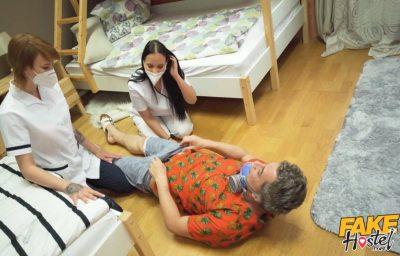 Stuck Between Two Nurses | Jennifer Mendez, Ariela Donovan & Steve Q