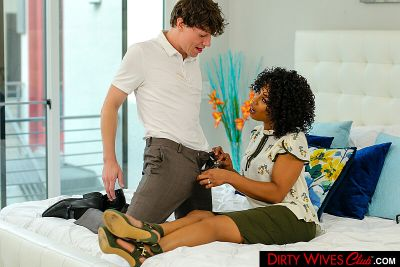 Misty Stone asked for green tea with extra COCK!!