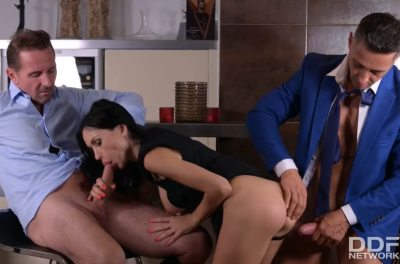Down And Dirty With The Intern | Sasha Rose, Mugur & David Perry