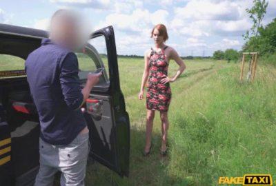 Peeping Cabbie Fucks Skinny Redhead | Ariela Donovan
