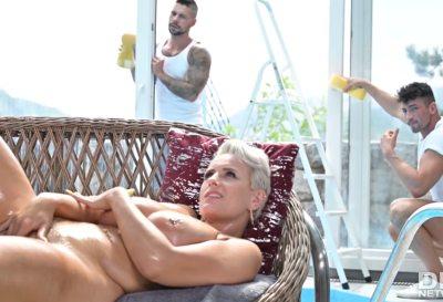 Busty Blondes Three On One Fun | Angel Wicky, Angelo Godshack, Luca Ferrero & Joel Tomas