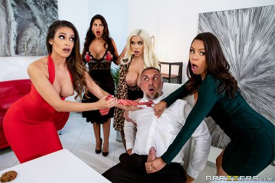 Office 4-Play: Latina Edition | Bridgette B, Katana Kombat, Luna Star, Victoria June & Keiran Lee