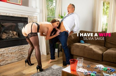 Silvia Saige cleans up a mess before fucking a married man (Marcus London)