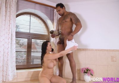 Busty Babe Served with Big Black Cock | Chloe Lamour, Franco Roccaforte