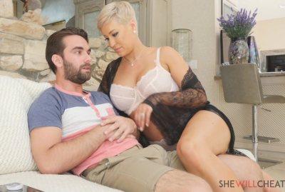Big tit blonde milf Ryan Keely cheats on her cuckold husband…with her stepson! (Logan Pierce)