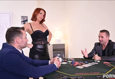Busty Milf Veronica Avluv plays strip poker and gets DP poked in her holes GP1231