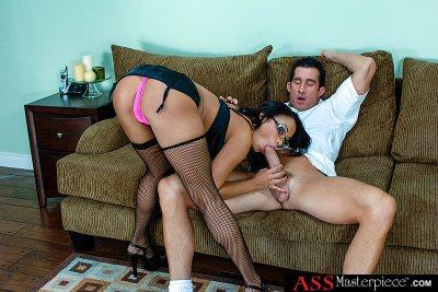 Aliana Love gets a big cock