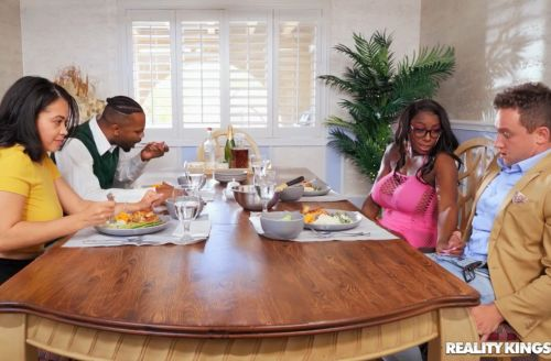 Dinner For Four, Squirting For Two | Ebony Mystique, Van Wylde
