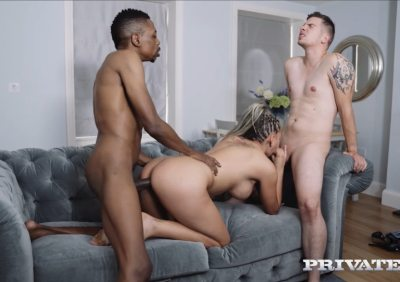Interracial Threesome With DP | Jolee Love
