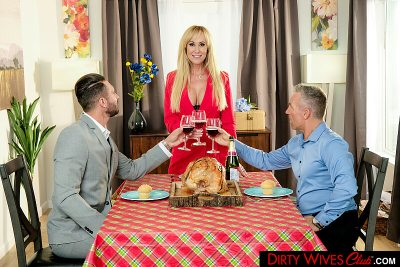 Bombshell Brandi Love is thankful for her husband's friend's cock (Quinton James)