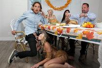 My Step Cousins Cum For Thanksgiving | Jessie Saint, Katie Kush & Tyler Nixon