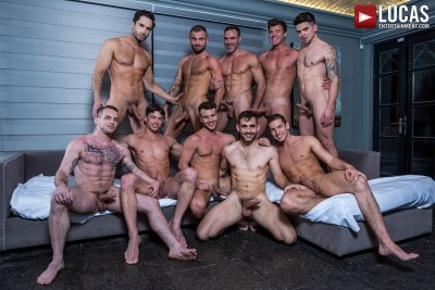 Join The Sweaty All-Star Orgy (Part 02) | Allen King, Colton Grey, Dakota Payne, Hunter Smith, Jeffrey Lloyd, JJ Knight, Manuel Skye, Max Arion, Michael Lucas, Ruslan Angelo