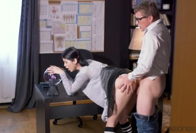 Teacher fucks sexy student on desk   Lady Dee, Steve Q