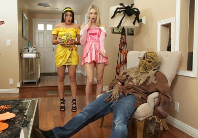 Step Brothers Trick And Treat | Kylie Rocket, Lily Larimar & Nathan Bronson