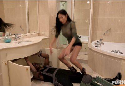 Asian sensation Polly Pons' hardcore interracial ass fucking eXXXtravaganza GP1208