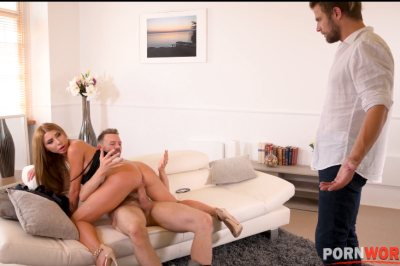 Hardcore double penetration threesome with blonde stunner Marilyn Crystal GP1265