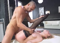 Gorgeous blonde smashed in hardcore anal scene | Alexa Flexy, Luca Ferrero