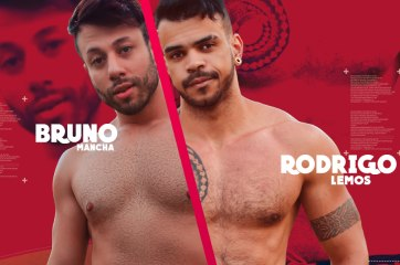 Bruno Mancha & Rodrigo Lemoz | Muita química e tesão é o que a terceira dupla oferece nessa cena.