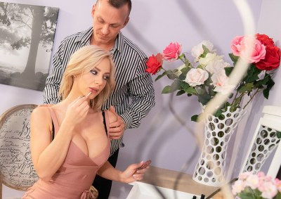 Slow romantic fuck in stockings   Nathaly Cherie, Cage