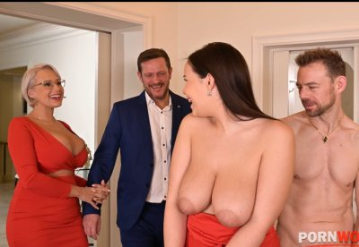 Angel Wicky and Sofia Lee go wild in XXXtreme double penetration group sex GP1221