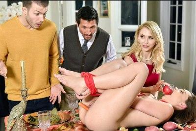 Family Friendly Thanksgiving Fuck Fest | Aften Opal, Alix Lynx & Tommy Gunn