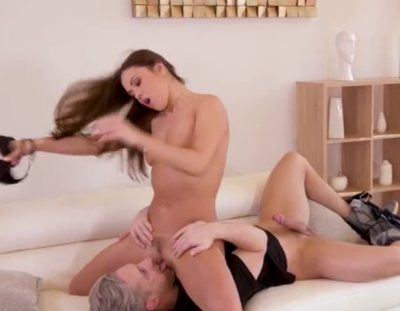 Sexy yoga babe Alyssa Reece gets her shaved pussy stretched during fucking GP1175