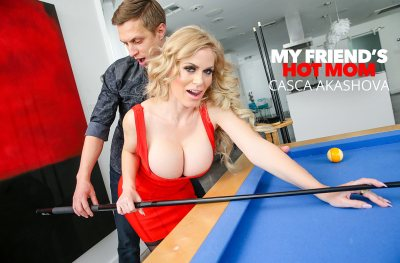 Casca Akashova fucks her son' friend on the pool table (Alex Jett)