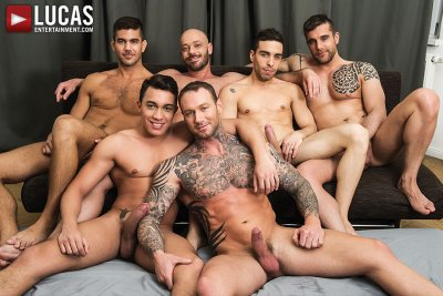 Dylan James Joins Joey Pele And Isaac Eliad In A Six-Man Bareback Orgy