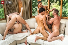 Seven-Man Orgy Featuring Dylan James, Alejandro Castillo And Drae Axtell