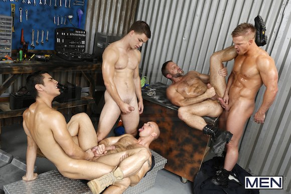 The Shop – John Magnum, Jimmy Johnson, Liam Magnuson, Lance Luciano (Men.com / 2013)