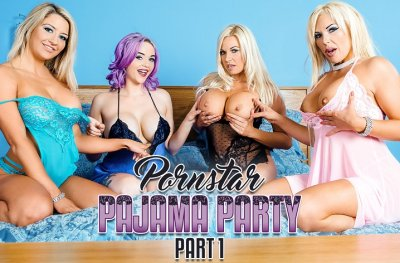 Pornstar Pajama Party 1 – Aaliyah Ca Pelle, Jasmine James, Michelle Thorne & Sienna Day