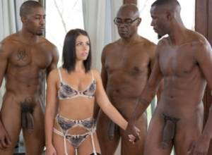 Brunette Babe Takes Trio of BBCs – Adriana Chechik (2016)