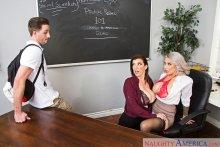 Alyssa Lynn & Sara Jay & Lucas Frost in My First Sex Teacher (2017)