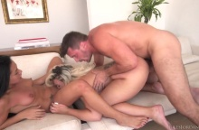 Assh Lee & Morgan Lee Open Their Backdoor Hoops For An Anal Three-Way (2016)