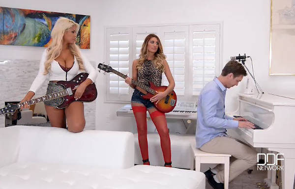 Prurient Band Rehearsal – Bridgette B, August Ames (DDF / DDFBusty / 2015)