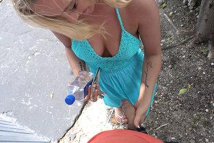 Cute Student Sucks Cock In Public – Bailey Brooke