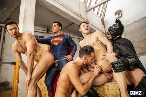 Batman V Superman – A Gay XXX Parody – Part 3 – Allen King, Dario Beck, Massimo Piano, Trenton Ducati, Topher Di Maggio (2016)