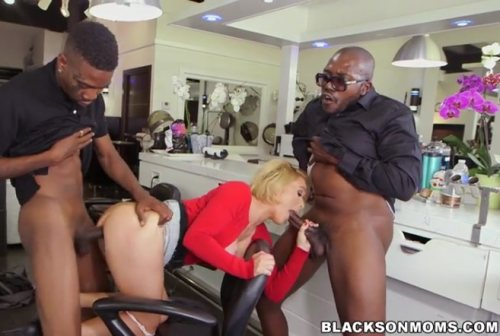 Hair Stylist Anal At Hair Studio – Krissy Lynn (BlacksOnMoms / 2016)