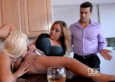 Lucky Stud: Thick Cock Pleases Two Voluptuous Cunnies – Bridgette B, Eva Notty (2016)
