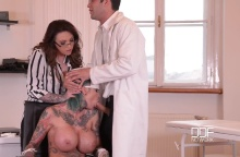 Tattooed Nurses Gone Wild – Humiliation In The Doctor's Office – Calisi Ink, Harmony Reigns & Kai Taylor