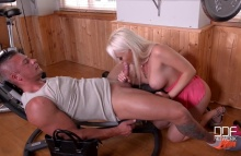 Don't Be Mad – Gym Instructor Receives Blowjob By Blonde Milf – Christina Shine, Sabby (2016)