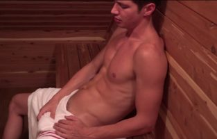 Colby Chambers Jerking Off in the Sauna