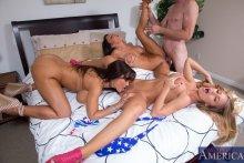 Lisa Ann, Jessica Jaymes, Nicole Aniston & Jordan Ash in My Sisters Hot Friend (2012)