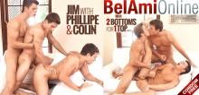 Bareback Threesome – Jim Kerouac, Colin Hewitt & Phillipe Gaudin
