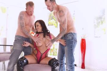 Keisha Grey DP'd, She Can Handle The Cocks But Is Shocked By The LOADS (JulesJordan / 2016)