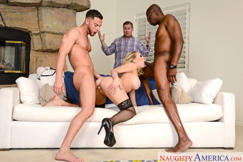 Kagney Linn Karter & Sean Michaels & Seth Gamble in American Daydreams (NaughtyAmerica / 2016)