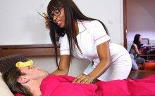 Horny black nurse gets creampied – Lola Marie (2017)