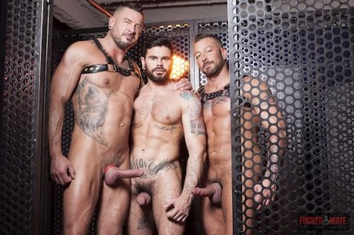 Mario Domenech, Dolf Dietrich and Hugh Hunter Cage party at Boyberry (FuckerMate / 2016)
