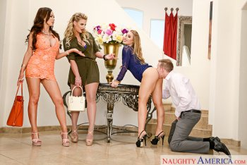 Nicole Aniston & Nikki Benz & Phoenix Marie & Mark Wood in Naughty Rich Girls (2016)