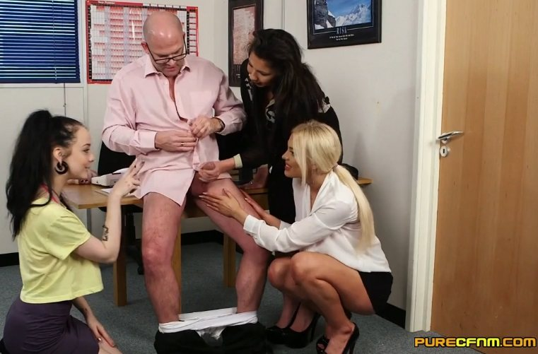 Office Voyeurs – Alessa Savage, Kirsty Travis, Louisa Moon (PureCFNM / 2016)